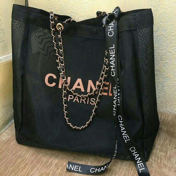 63c543be0f7d C H A N E L Bags | Chanel Rose Gold Mesh Chain Tote Bag | Poshmark